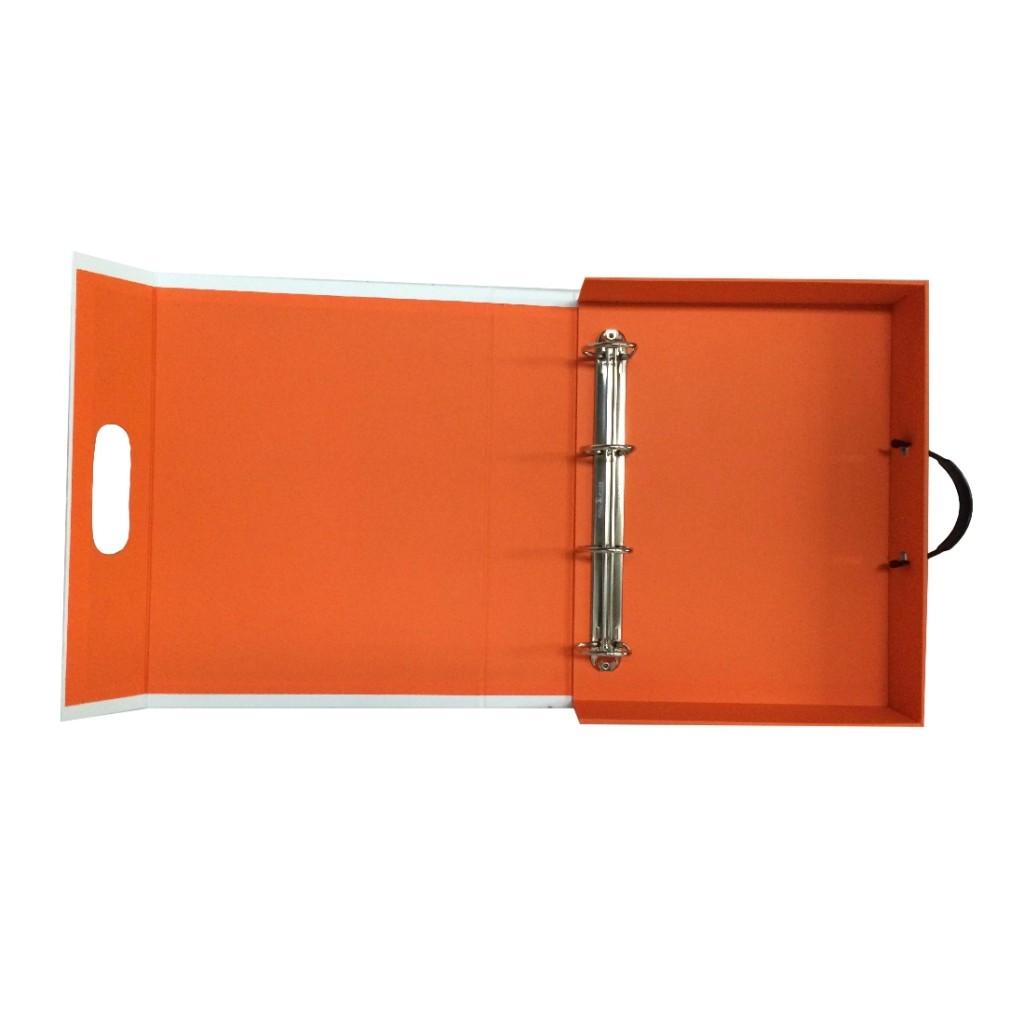 Custom Document Case Box Folder with ring binder - open