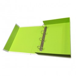 Personalised Document Box with Ring Binders - Open